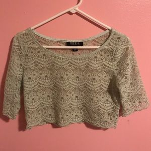 Urban Outfitters - Tela - pale green crop top - M